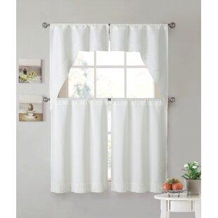 Jitu Lace Kitchen Curtain Set Of 2