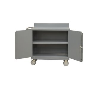 Mobile 36W Steel Top Workbench by Durham Manufacturing