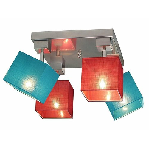 Partee 4 Light Ceiling Spotlight Brayden Studio Frame