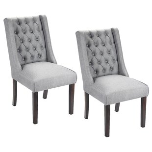 Bargain Plaistow Button Tufted Upholstered Dining Chair (Set of 2) By Gracie Oaks