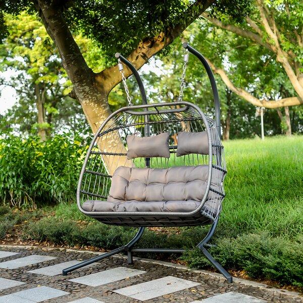 Morinome X Large Wicker Hanging Double Swing Chair Egg Chair Wayfair