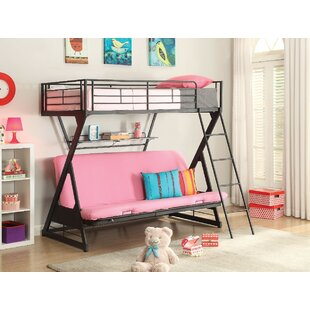 Affordable Bourgault Metal Twin over Full Futon Bunk Bed with Bookcase by Harriet Bee Reviews (2019) & Buyer's Guide