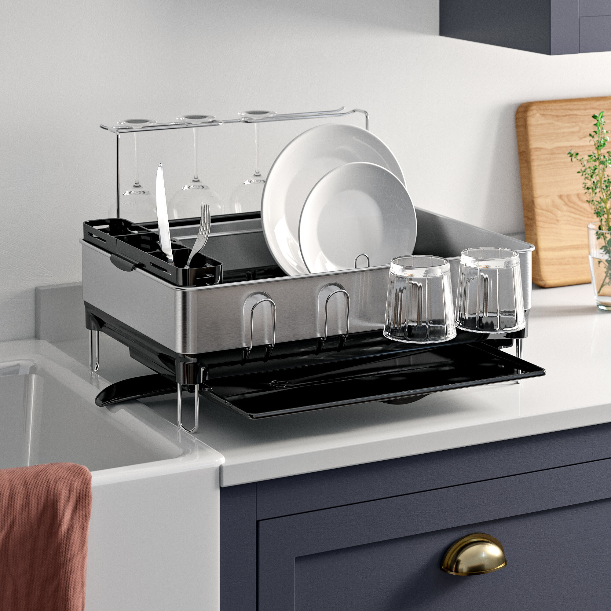 Stainless Steel Countertop Dish Rack