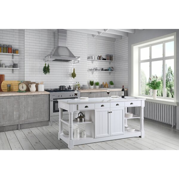 Dcor Design Kitchen Island With Tile Top Wayfair