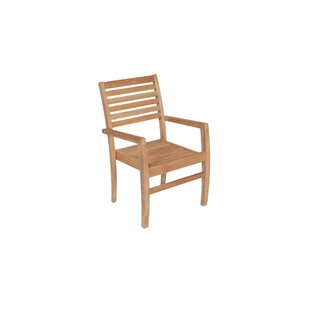 Haney Stacking Teak Patio Dining Chair