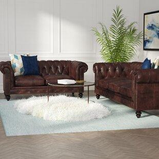 Tunbridge Wells 2 Piece Leather Living Room Set