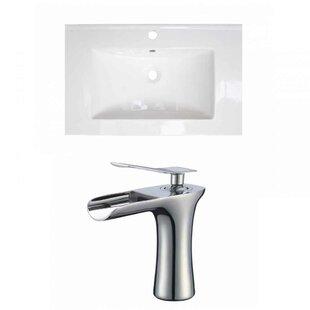 Review Vee Ceramic 21 Single Bathroom Vanity Top by Royal Purple Bath Kitchen