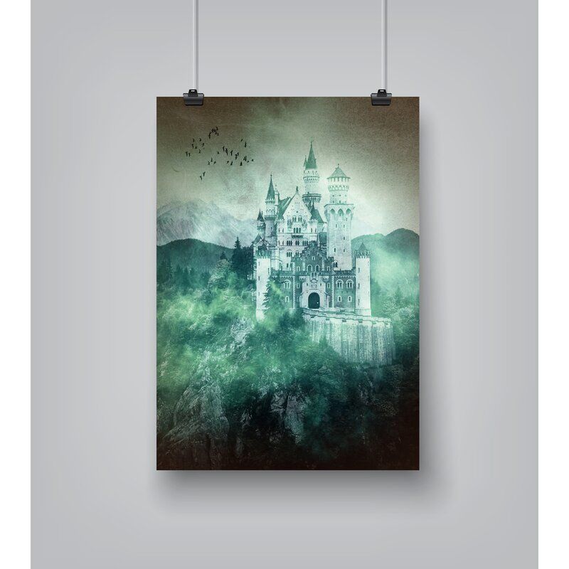 East Urban Home Neuschwanstein Castle Germany Graphic Art Print Wayfair