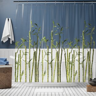Lippa Photoreal Bamboo Single Shower Curtain