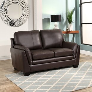 Whitstran Leather Loveseat by Darby Home Co Purchase