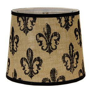 Fleur de lis lamp shade wayfair fleur de lis burlap 5 linen drum candelabra shade mozeypictures Image collections