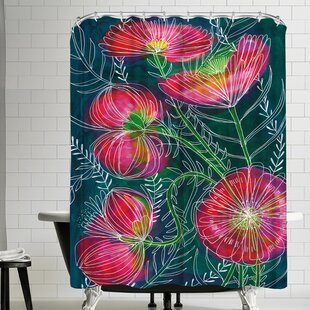 Paula Mills Always Flowers Single Shower Curtain
