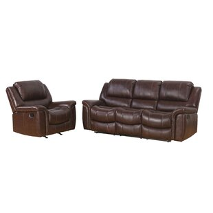 Blackmoor Reclining 2 Piece Leather Living Room Set