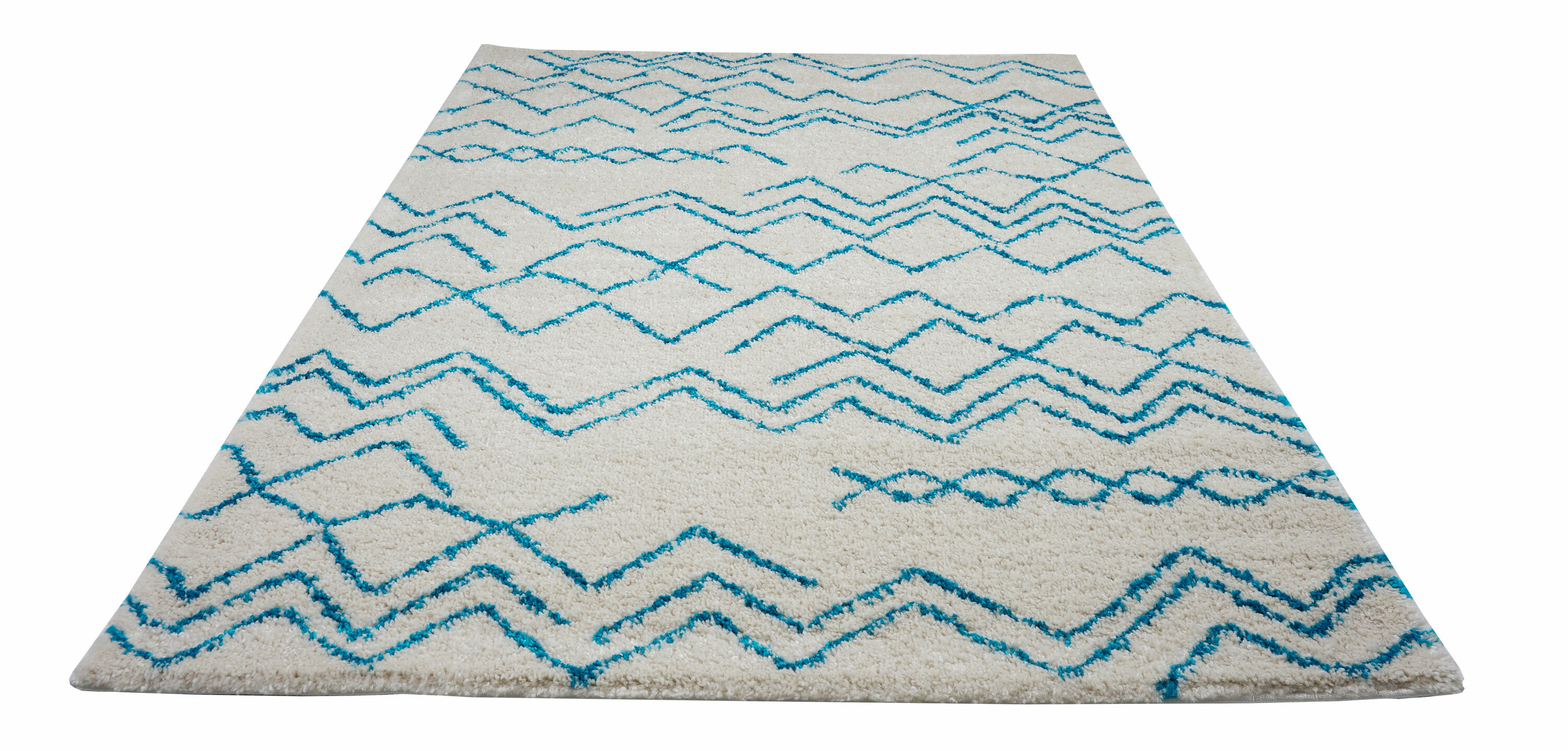 Foundry Select Jacoby Chevron Ivory Turquoise Area Rug Wayfair