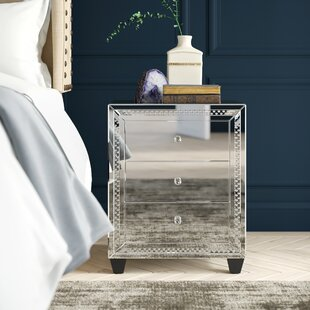 Laster Crystal 3 Drawer Nightstand by Rosdorf Park