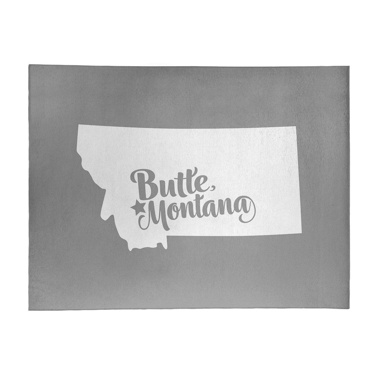 East Urban Home Butte Montana Poly Chenille Gray Area Rug Wayfair