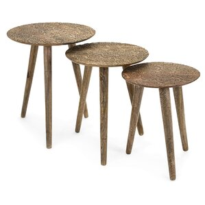 Wollano Round 3 Piece Nesting Tables by Bung..