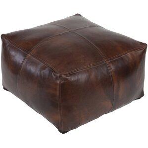 Lottie Leather Pouf Ottoman by Trent Austin Design