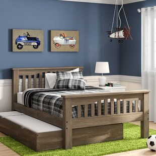 Best Reviews Stella Full Panel Bed with Trundle ByGrovelane Teen