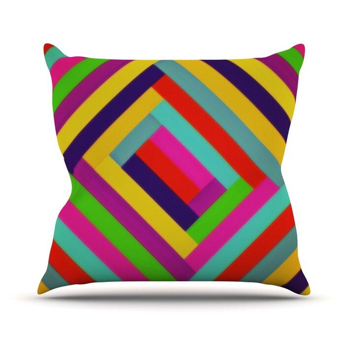23 x 23 Square Floor Pillow Kess InHouse Julia Grifol My Butterflies /& Flowers in Green Rainbow Floral