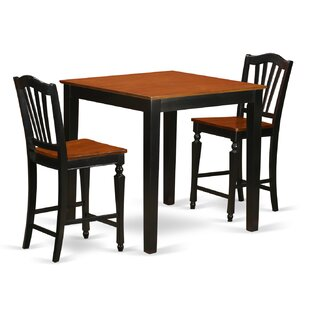3 Piece Counter Height Pub Table Set East West Furniture
