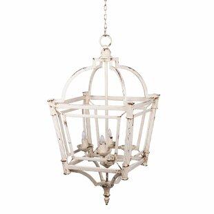 Galilea Classic Vintage Bird Cage 4-Light Lantern Chandelier