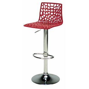 Cherie Adjustable Height Swivel Bar Stool (Set of 2)