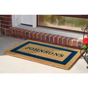 Damron Frame Heavy Duty Coir Personalized Doormat by Winston Porter