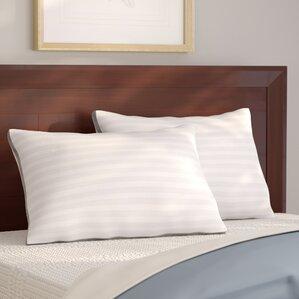 Dobby Stripe Down Alternative Pillow (Set of 2) by Alwyn Home