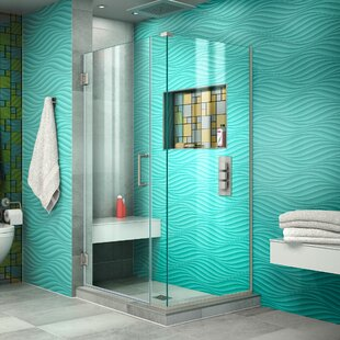 Unidoor Plus 29 x 72 Hinged Frameless Shower Door with Clear Max Technology by DreamLine