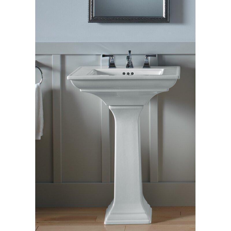 Memoirs Ceramic 25 Pedestal Bathroom Sink With Overflow