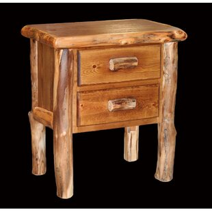 Amias 2 Drawer Nightstand by Millwood Pines Fresh
