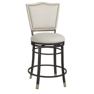 Brys Swivel Elegant Counter Height Bar Stool by Willa Arlo Interiors Best Reviews