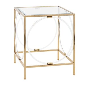 Raine Iron Framed End Table by Mercer41