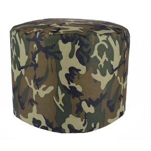 Aurore Durable Camo Round Ottoman for Freeport Park by Freeport Park