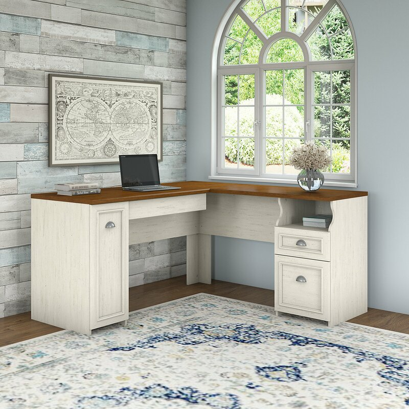 Beachcrest Home Oakridge L-Shape Desk & Reviews | Wayfair