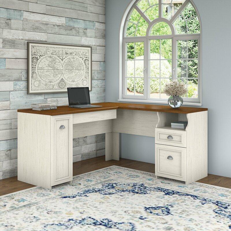 Beachcrest Home Oakridge L-Shape Desk & Reviews