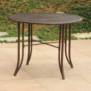 Doric Iron 39 inch  Round Patio Dining Table Reviews