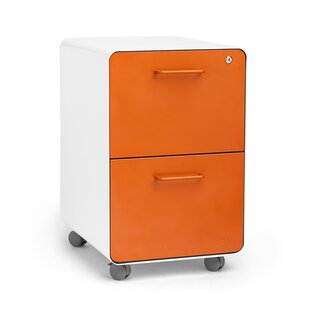 Rolling Stow 2-Drawer Vertical File Cabinet by Poppin New