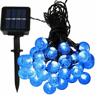 Affordable 30 Count LED Solar Powered Globe String Light By The Holiday Aisle