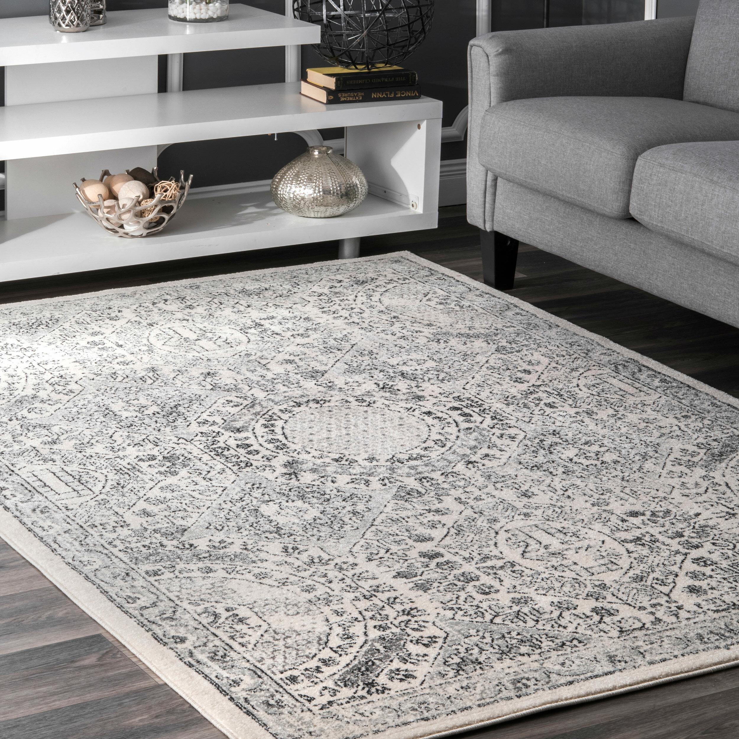 London Persian Inspired Gray Area Rug
