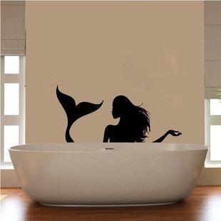 Florent Mermaid Silhouette Vinyl Bathroom Wall Decal