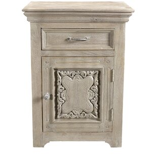 Patchway Carved 1 Drawer 1 Door Nightstand