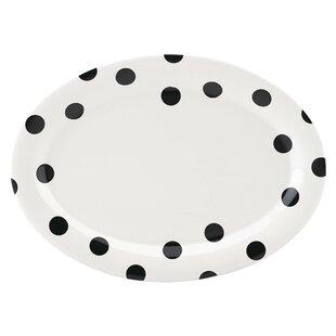 All in Good Taste Deco Dot Oval Platter
