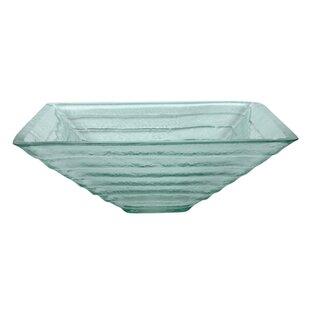 Buy clear Fauceture Glass Square Vessel Bathroom Sink ByKingston Brass