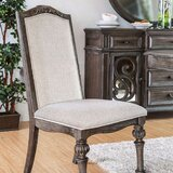 Janiya Upholstered Side Chair in Rustic Natural Tone (Set of 2) by One Allium Way®