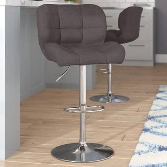 Terrific Ebern Designs Witney Adjustable Height Swivel Bar Stool Ncnpc Chair Design For Home Ncnpcorg
