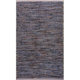 Parker Hand-Woven Black/Gray Area Rug ByRosecliff Heights