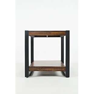 Cantu Contemporary Wooden End Table by Millwood Pines
