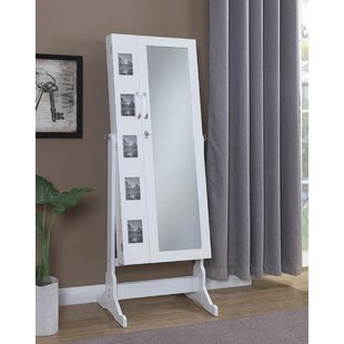 Angel Free Standing Jewelry Armoire with Mirror